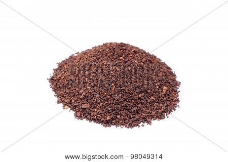 Heap Of Coarsely Grinded Coffee