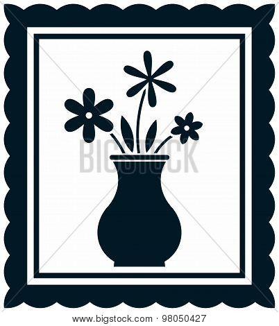 Vector Still Life Flowers In Vase Illustration