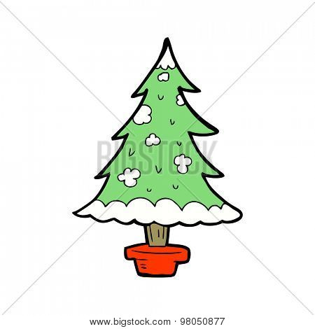 cartoon christmas tree