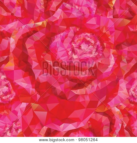 seamless roses ornament
