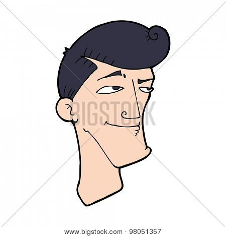 cartoon confident man