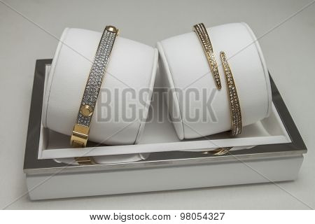 female bracelet with diamonds