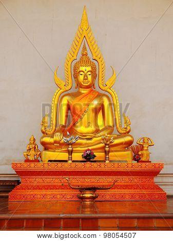 Buddha Statue In Wat Chedi Luang, Chiang Mai