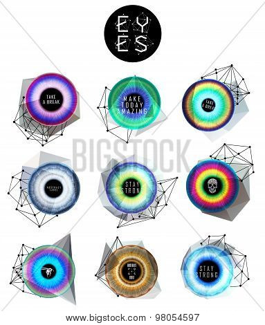 eyes collection, human pupil