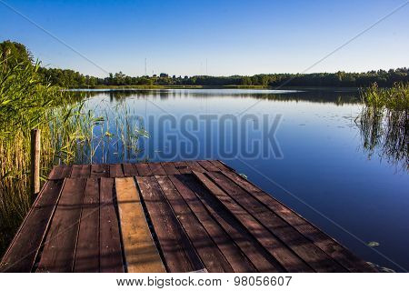 Old Boat Dock on a lake