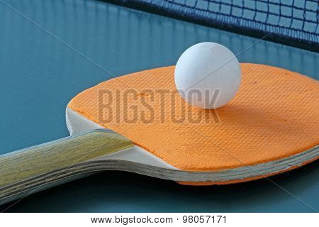 Ping-pong rackets and a ball