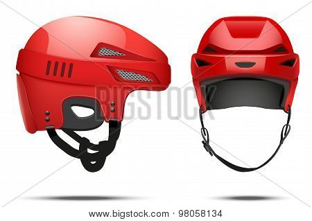 Classic red Hockey Helmet
