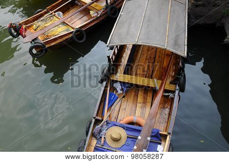 Tongli Water Canal boats