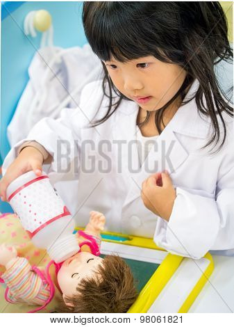 Doctor Occupation Role Playing Girl