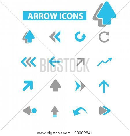 arrow, direction icons, signs, illustrations set, vector