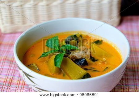 Pumkin Curry With Pork Thai Food