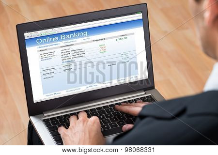 Businessperson Doing Online Banking