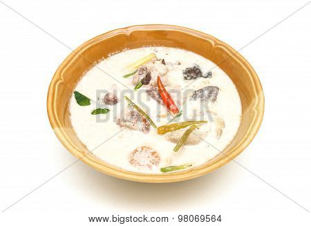 Soup Made From Coconut Milk And Vegetables