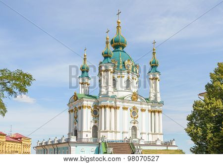Andriyivskyy Church  In Kiev