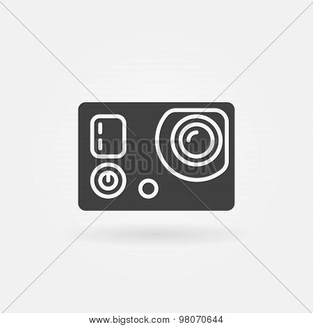 Action camera icon or logo