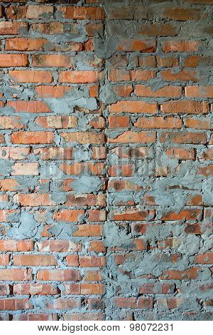 Photo texture of a brick wal
