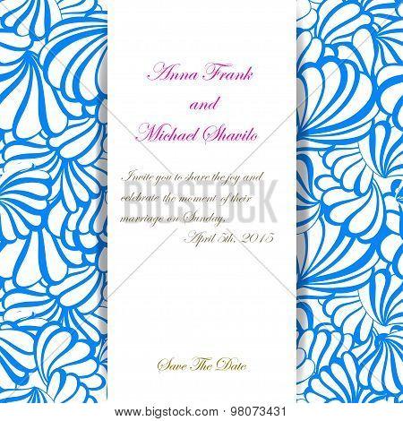 sea vector invitation pattern for wedding day.