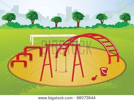 Playground In City