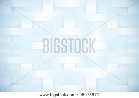 Abstract Blue Background In Tangled Paper Style