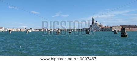 Island Of San Giorgio Maggiore In Venice, Italy