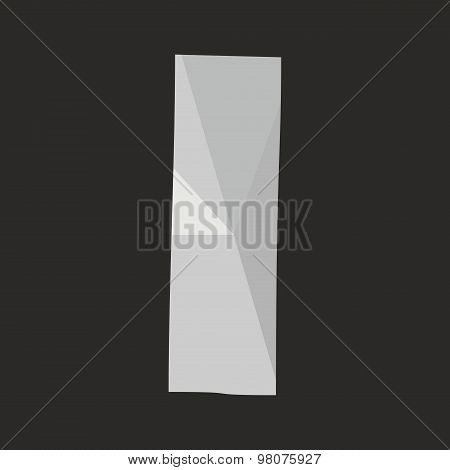 I low poly wrapping surface vector alphabet letter isolated on black background