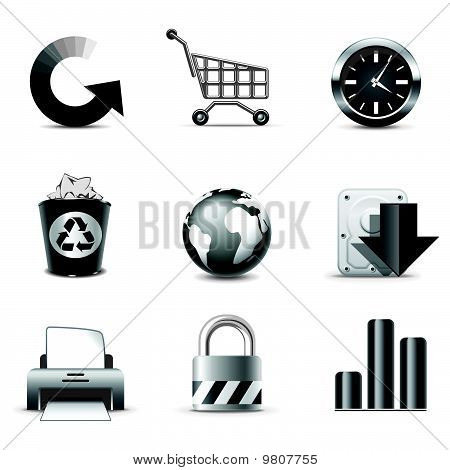 Web And Internet Icons 2 - B&w Series