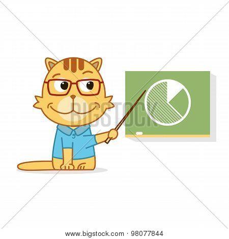 Cat In Shirt Near Desk