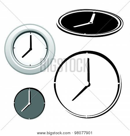Time Clock Icons Set