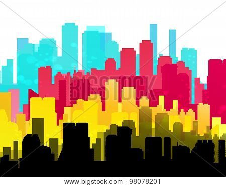 Cmyk City Print Service Background