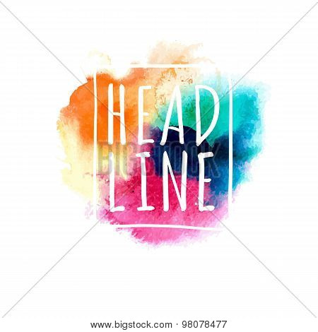 Bright Multicolored Watercolor Banner