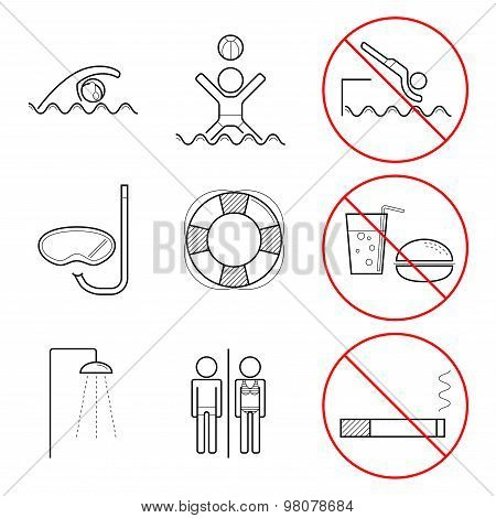 Icons For Swimming Pools