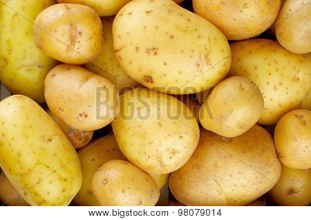 Yellow Potatoes Background
