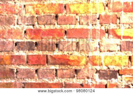 Blur Ancient Brick Wall
