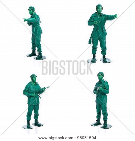 Four Man On A Green Toy Soldier Costume