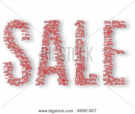 Percents inside inscription sale.