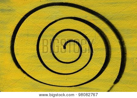 Spray Painted Spiral