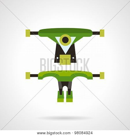 Longboard suspension flat vector icon