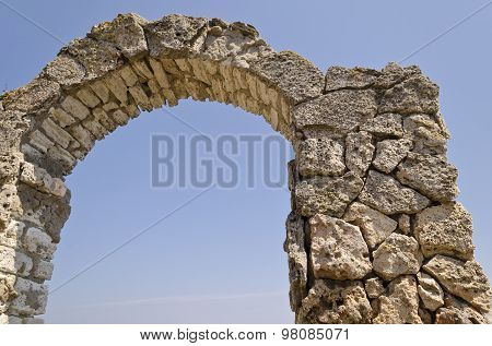 Ancient Arch In Fortress On Kaliakra Headland