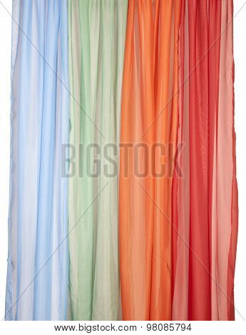 Many Curtain Background With Clipping Path