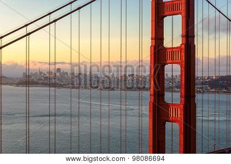 San Francisco at sunrise.
