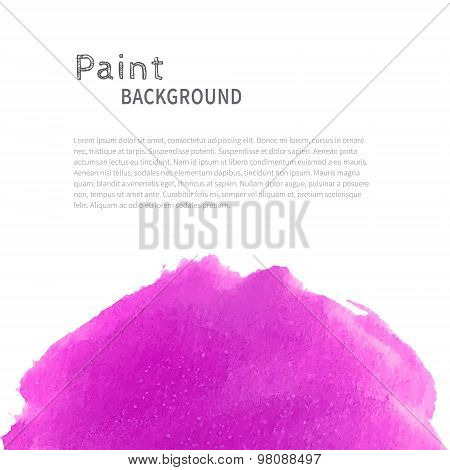 Magenta watercolor paint background