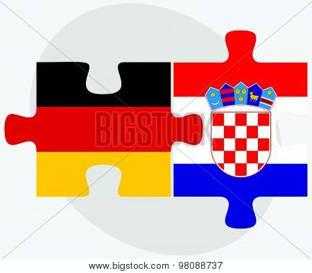Germany And Croatia Flags
