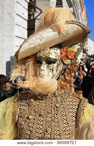 Masked Venetian at Venice carnival