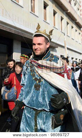 Venetian man at Venice Carnival