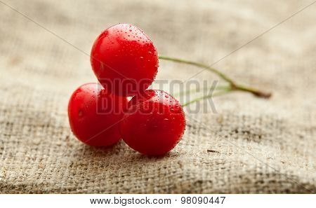 Three Cherry Over Baging