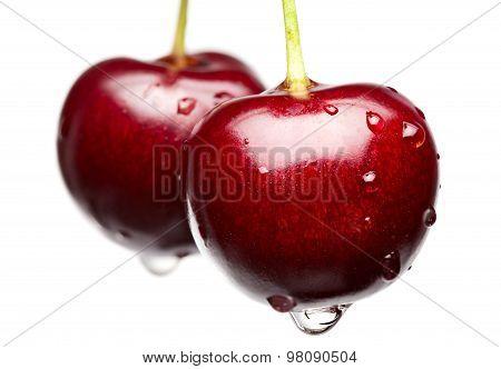 Macro Of Red Cherry