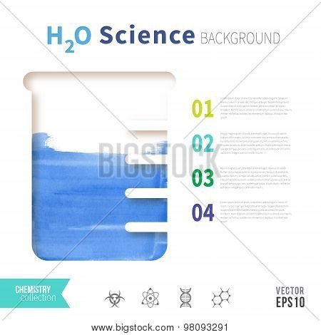 Chemistry h2o science concept