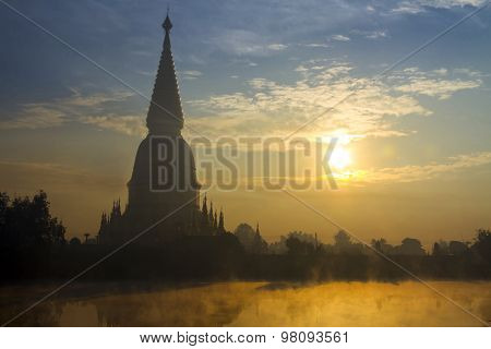 Big Pagoda Gold With Sunrise