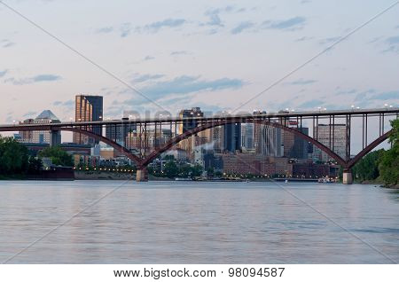 Saint Paul Skyline And Bridge