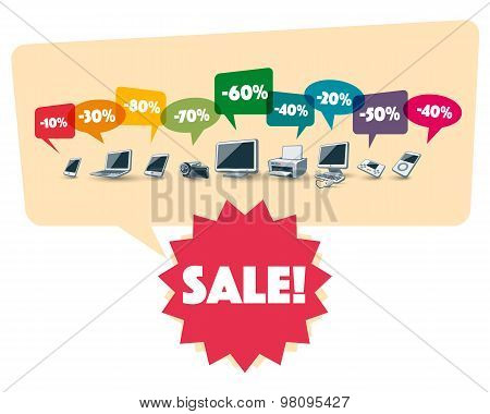 Electronics Shopping Sale Discount